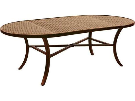 Castelle Transitional Cast Aluminum 86 X 44 Oval Dining Oval Cast Aluminum Patio Table