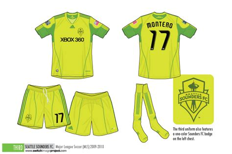 seattle sounders colors football teams shirt and kits fan december 2010