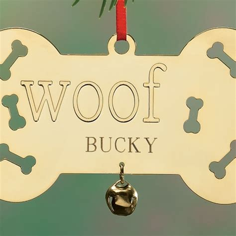 personalized brass ornaments personalized woof brass ornament ornaments