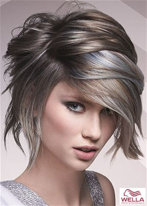 haircuts and color pinterest medium haircuts for woman photo i love the asymmetry and