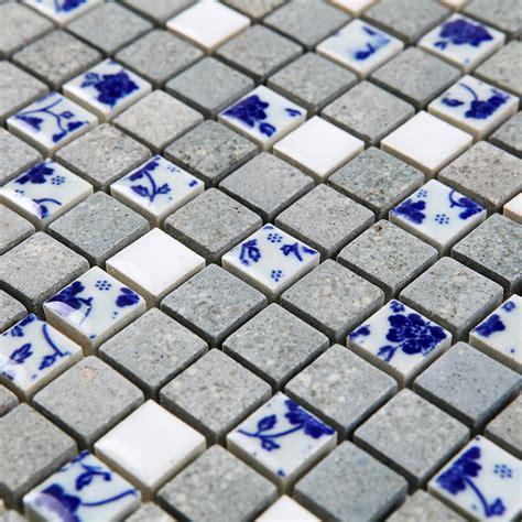 blue and white porcelain tile mosaic tiles ceramic ceramic blue and white porcelain mosaic kiln tiles mosaic