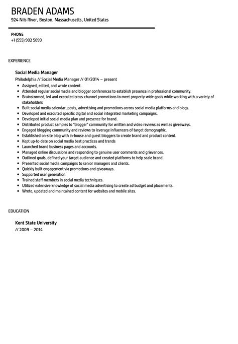 resume catering sales manager wonderful social media manager