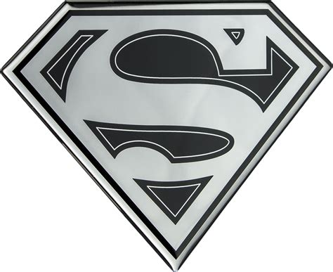 Emblem Luxury Chrome 1 superman superman logo black and chrome lensed fan emblem by fan emblems