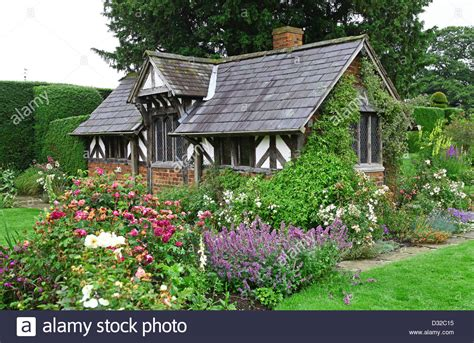 the half timbered building known as the tea cottage in the