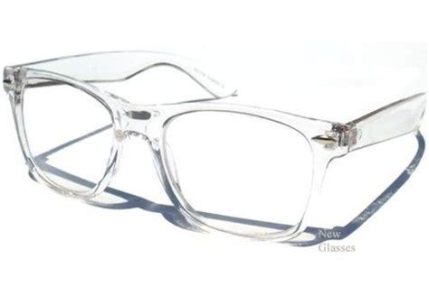 transparent frame clear lens glasses