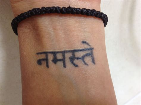 namaste tattoos namaste in sanskrit