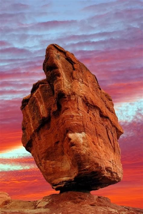 Balanced Rock Garden Of The Gods Colorado Usa Earth What A Balance Quot Balanced Rock In The Garden