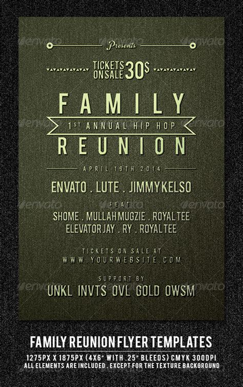 Family Reunion Flyer Templates Free