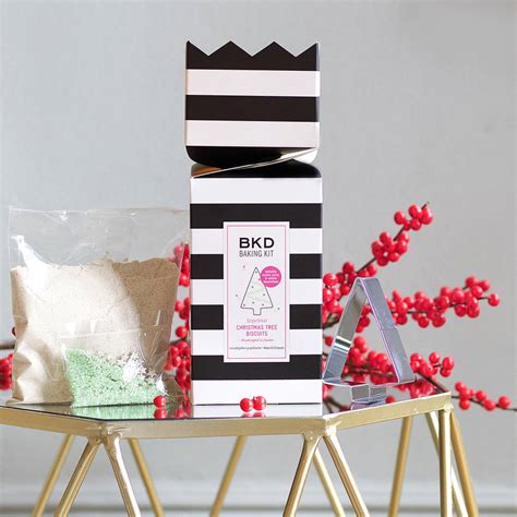 baking kit gingerbread christmas tree biscuits by bkd
