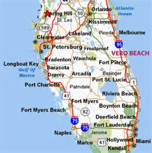 map of vero florida map
