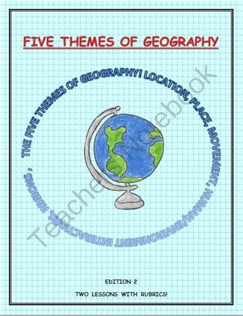 themes of geography packet five themes of geography from teachlearn on