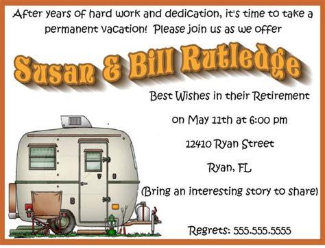 rv renovation ideas on pinterest party invitations ideas happy retirement party rv travel c invitation custom