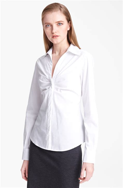 Sale Promo Fashion Wanita Blouse Combi ruched white blouse blouse styles