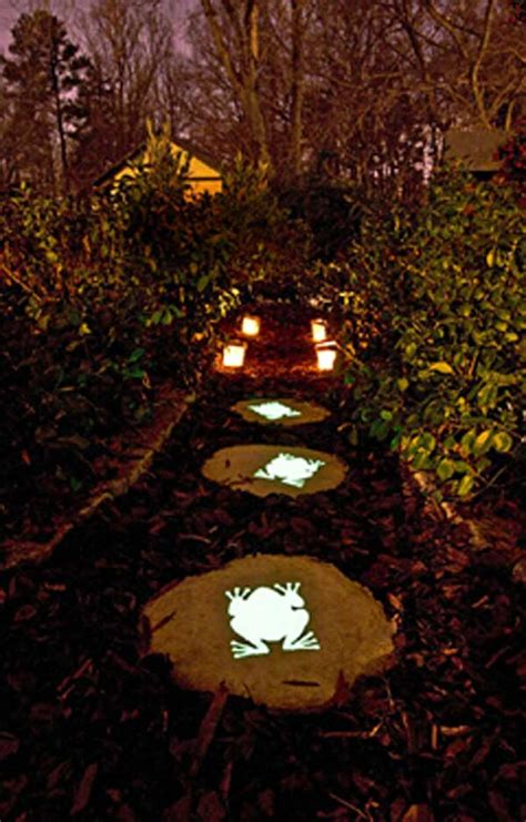 glow in the paint yard ideas 21 diy stepping stones to brighten any garden walk