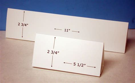 how to make table cards table tent cards horizontal format for inkjet or laser