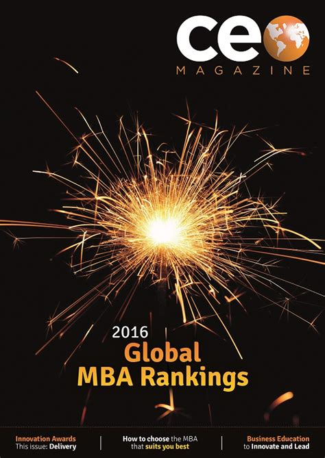 Ceo Magazine Mba Ranking 2017 by The Aerospace Mba Ranked For The Time Among Tier One