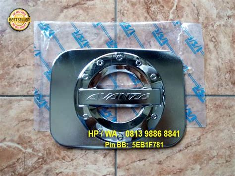 Tank Cover Tutup Bensi Grand New Avanza Xenia Chrome 3 tutup bensin tank cover sporty all new avanza rivo variasi