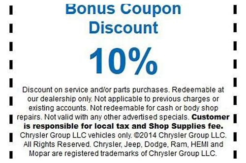dodge parts coupons