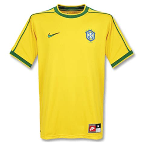 Brazil Home 2010 Retro football shirts nike 1998 brazil home retro s