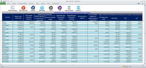 formato de excel para calculo de declaraciones mensuales 2016 compuirapuato