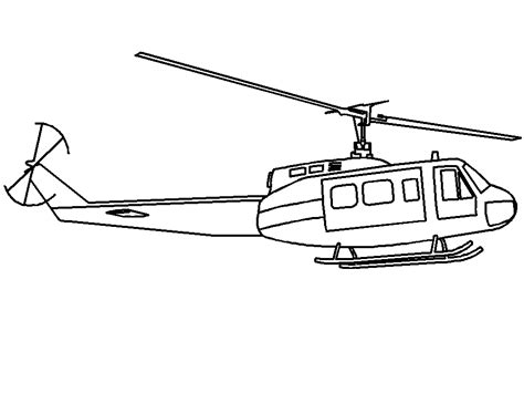 Helicopter Coloring Pages Helicopter Coloring Page