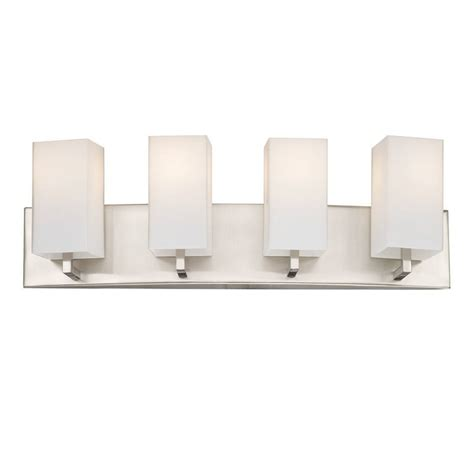 Philips Bathroom Lighting Shop Philips 4 Light Avenue Satin Nickel Bathroom Vanity Light At Lowes