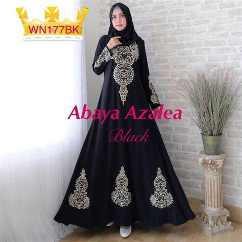 gamis pesta bordir abaya azalea baju muslim murah