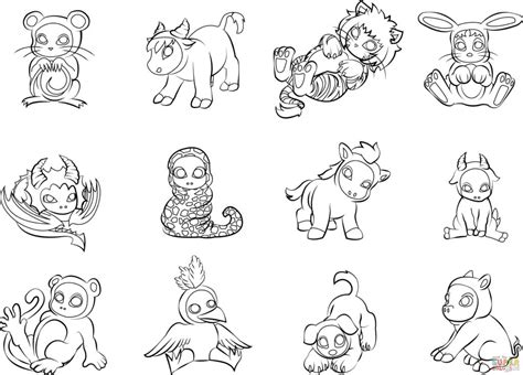 free printable chinese zodiac signs zodiac coloring pages