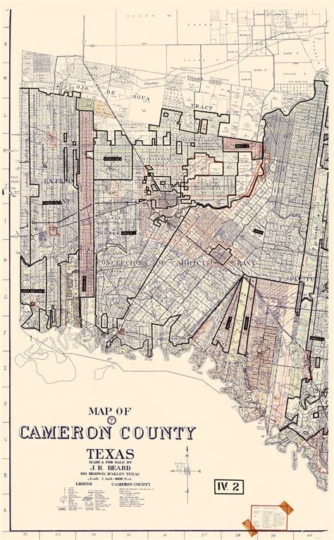 cameron texas map county maps cameron county texas part one tx by j r beard 1956