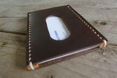 Dompet Kartu Kulit Ultimate Flip Handmade Black Top Grain Soft Cowhide personalized horween leather business card holder on etsy 37 00 leather cases