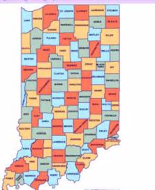 map of indiana cities counties indiana state map map