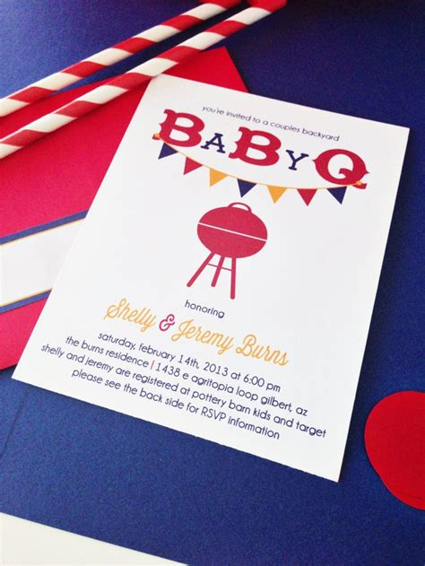 Baby Q Shower Invitations by Baby Q Baby Shower Collection Couples Baby Shower