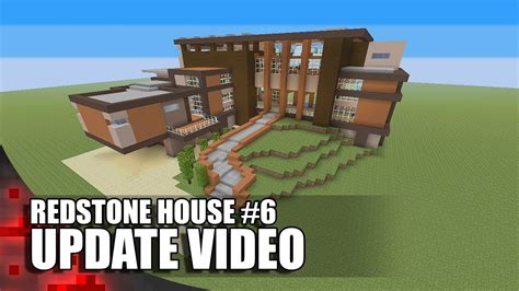 how to build a redstone house redstone house 6 update video youtube
