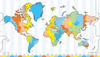 Times Zones Map by About The Time Zone Map