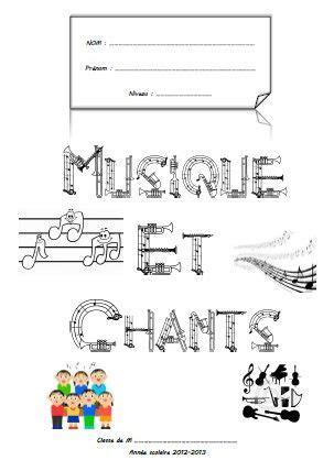 page de garde cahier de musiques et chants