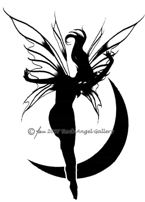 fairy silhouette tattoo designs 37 designs