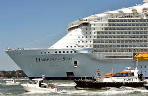 largest ship in the world world s largest cruise ship royal caribbean s harmony of