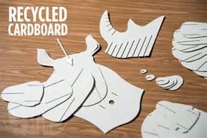 cardboard safari animals diy wall trophy made from