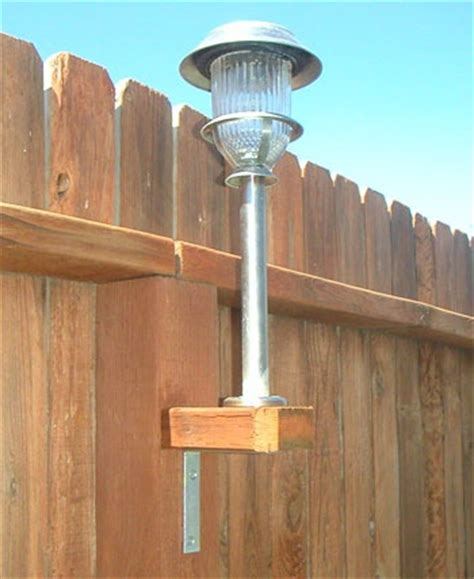 How To Add Solar Lights To A Fence Home Design Garden Solar Fence Post Light