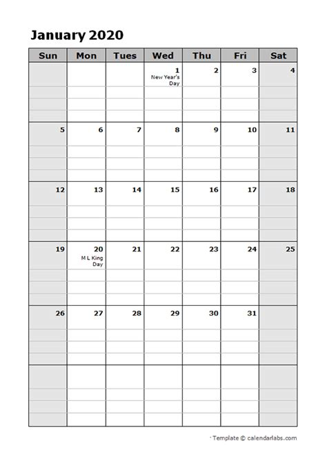 daily planner calendar template  printable templates