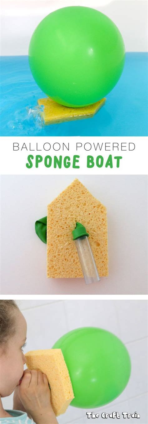 how to make a boat science project make a balloon powered sponge boat fun science