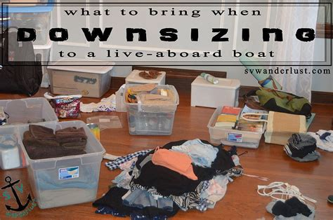 living on a boat dc downsizing your life a detailed list of what to bring