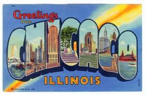chicago postcard museum greetings from chicago lobby
