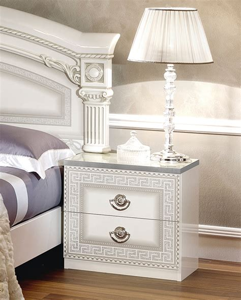 white and silver bedroom furniture aida white w silver camelgroup italy classic bedrooms