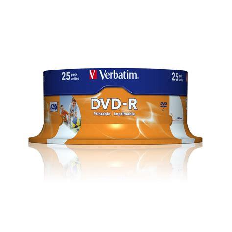 Dvd R Verbatim verbatim dvd r 16x 4 7gb printable tarrina 25 unds cd dvd