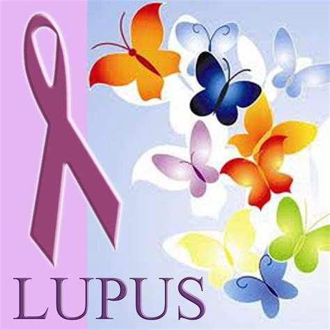 lupus awareness the color is purple butterflies are the
