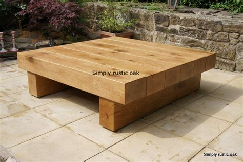 Handmade Wooden Furniture Uk - bespoke rustic oak 6 beam coffee table custom made
