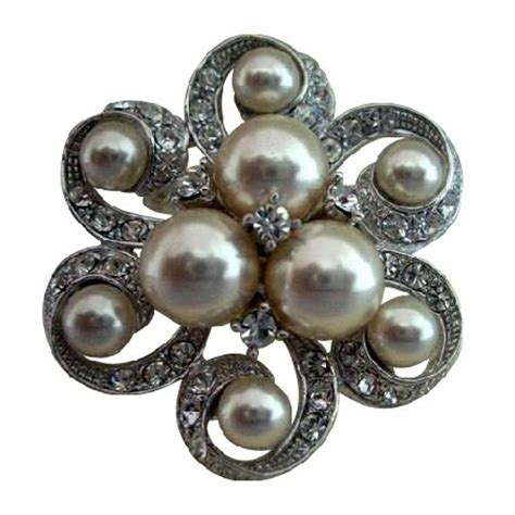 jewelry classes minneapolis floral pearls brooch pin for bridal bridesmaid dress