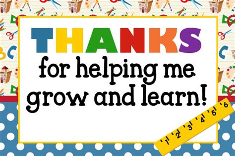 thank you cards template for teachers a thank you to my former