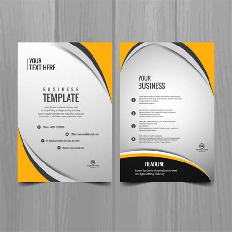 Brochure Templates Free Downloads by Modern Business Brochure Template Vector Free